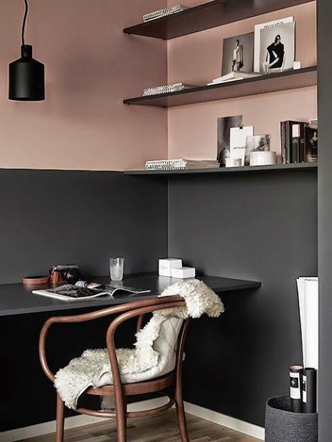Pink and Black Walls
