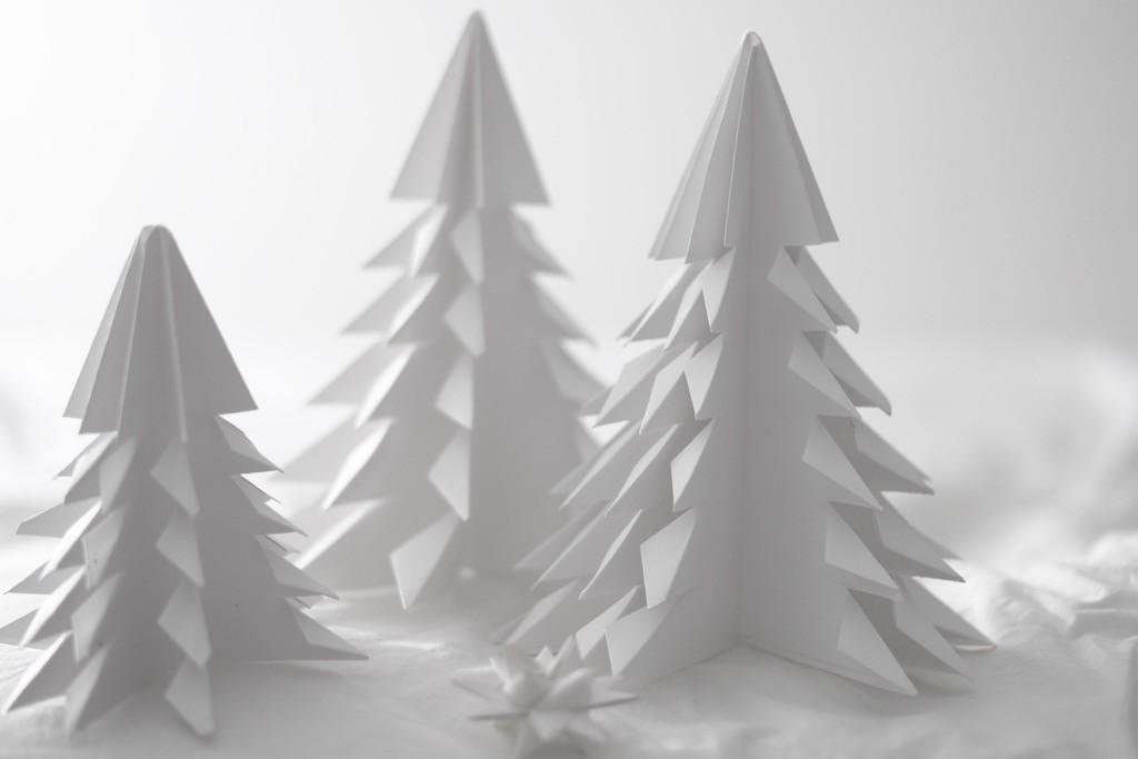 hjemmelagde papirtrær