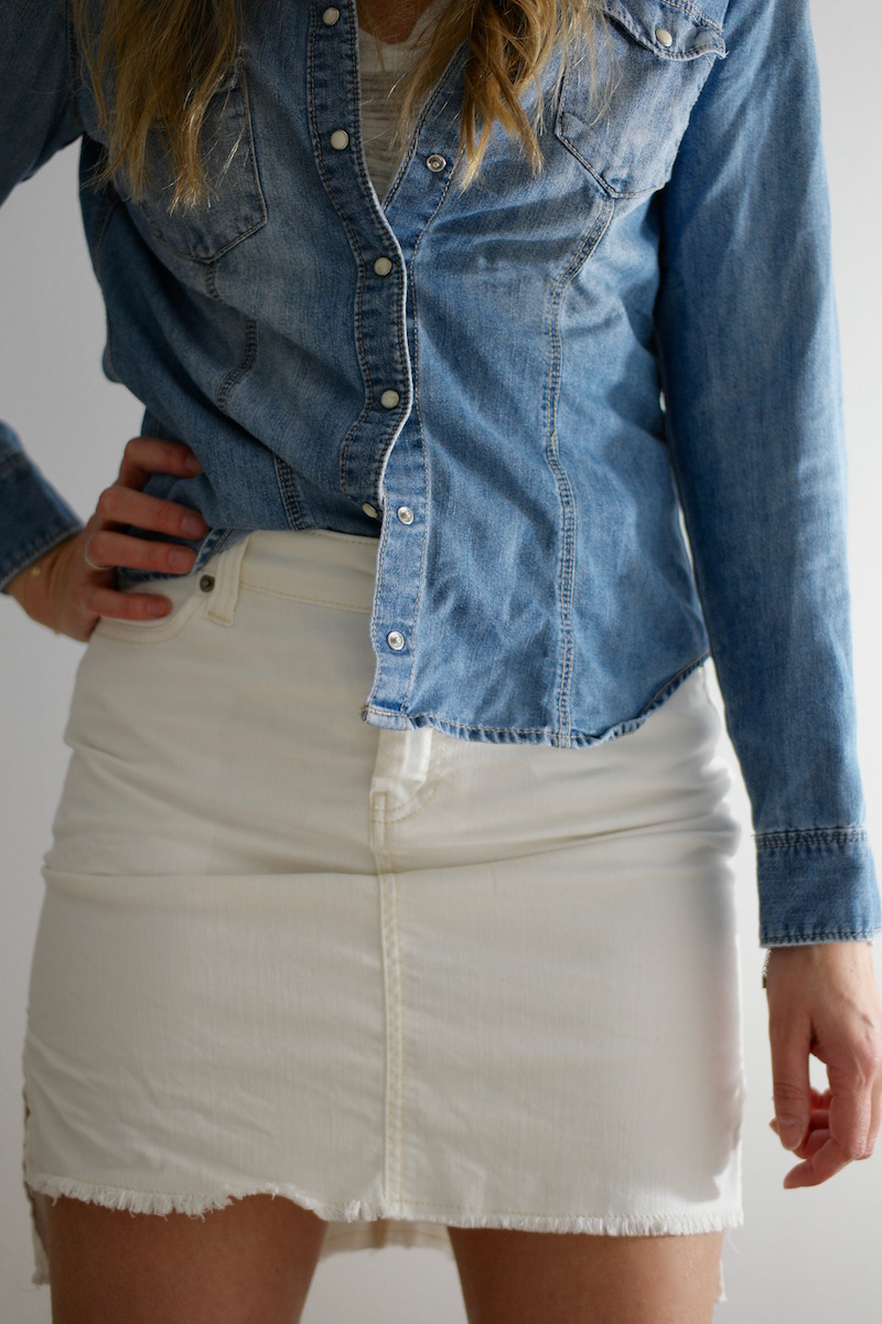 White Denim - Chloe Skirt