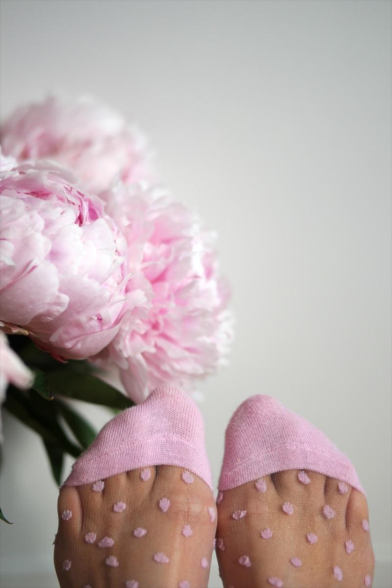 Rosa polkadot sokker