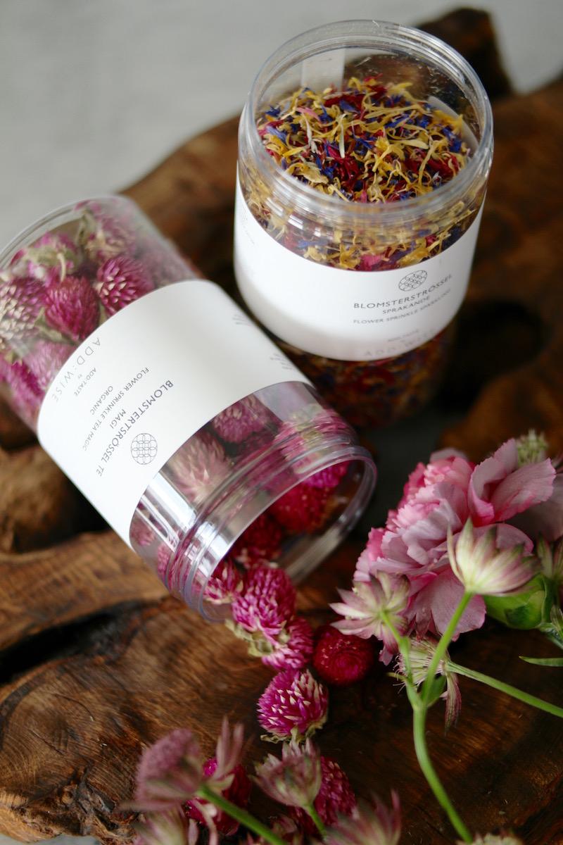 Blomsterstrø – tørkede blomster til kaker og mat