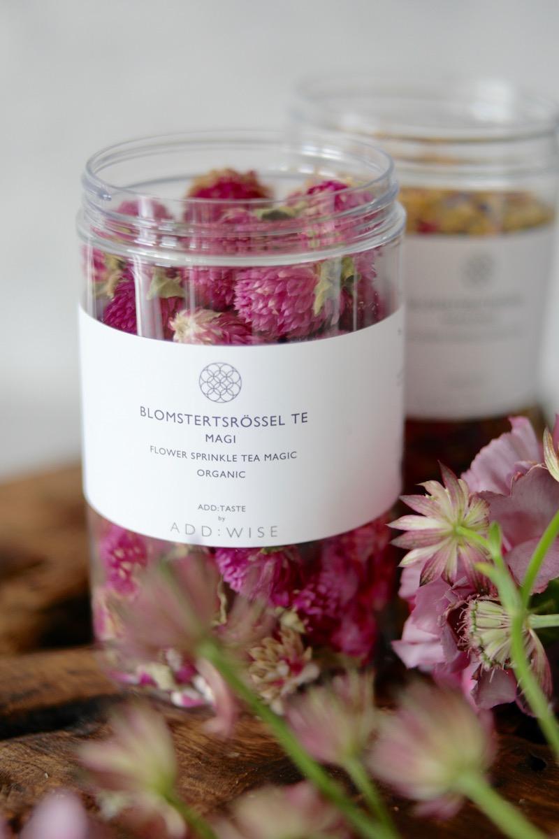 Blomsterstrø - tørkede blomster til kaker