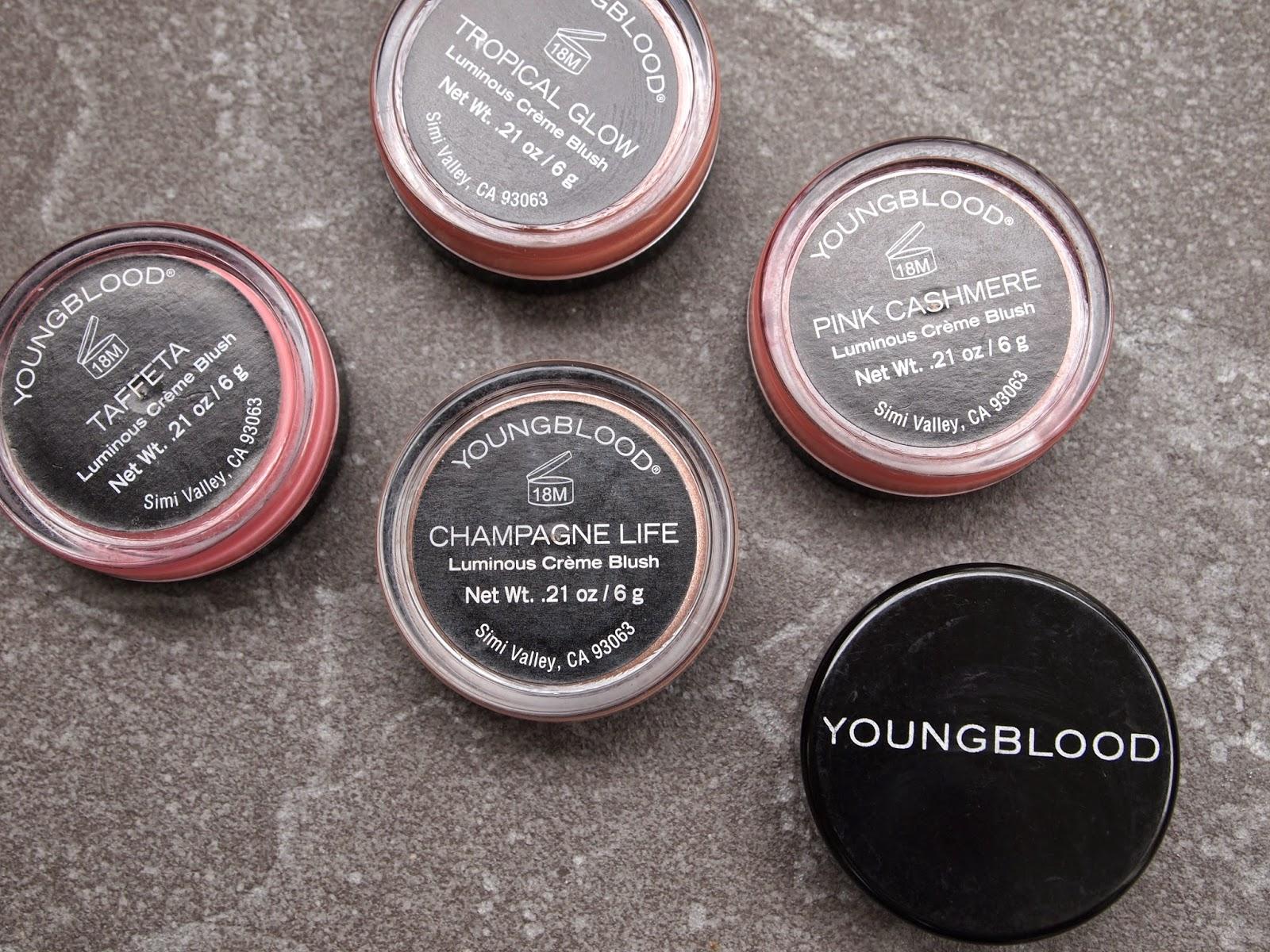 Youngblood Luminious Créme Blush x 5