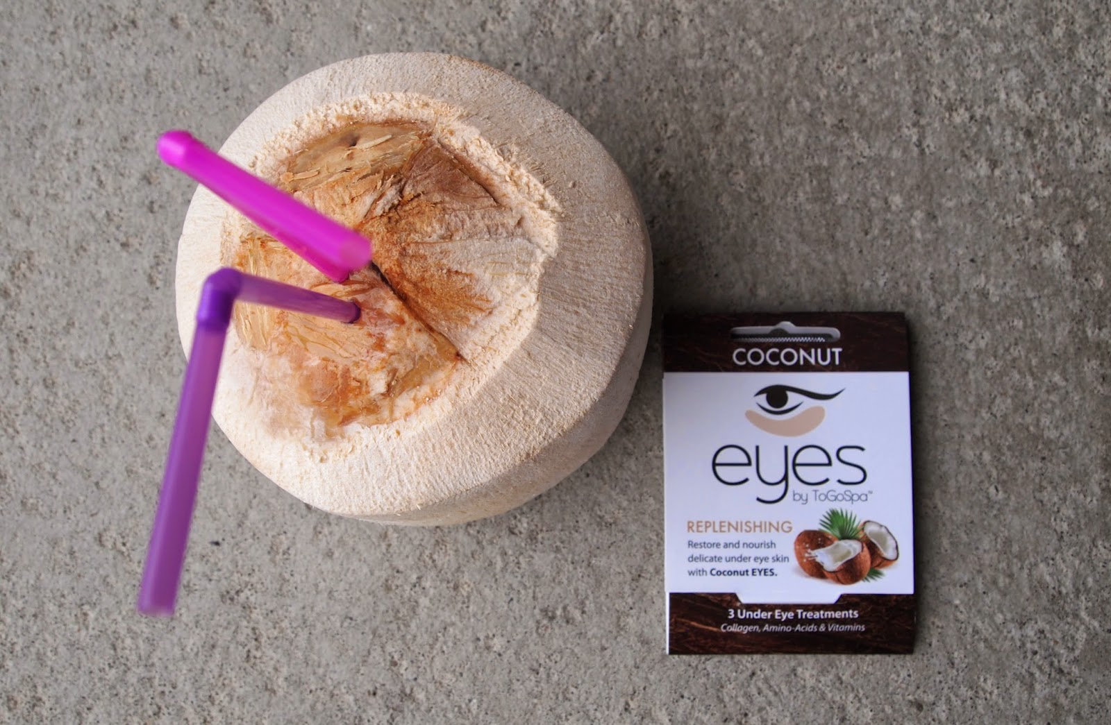 Kokos og øyepads