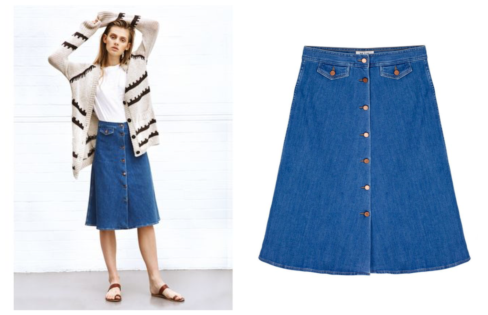 MiH The 70s Denim Skirt