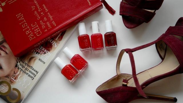 Røde negler – 5 shades of red