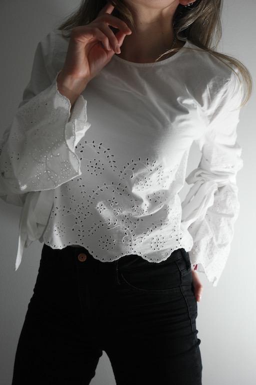 Hvit blondebluse - Ladybirds Nest